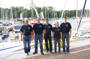 Die Crew im Hafen von Svenemünde