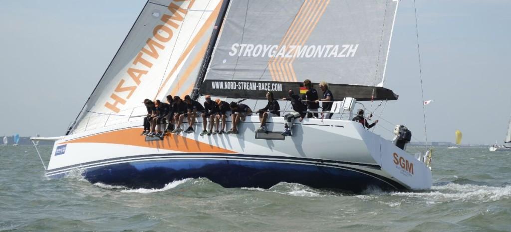 """Team Germany SWAN 60 """"SGM"""" mit kleinem Vorsegel hoch am Wind"""
